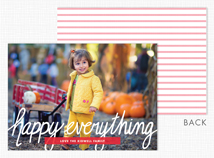 """happy everything"" Flat Holiday Photo Card"